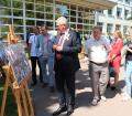 The Minister of Education of the Republic of Belarus Igor Karpenko is getting acquainted with the photo project «Living Memory»